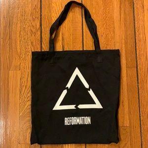 Reformation | Black Tote Bag